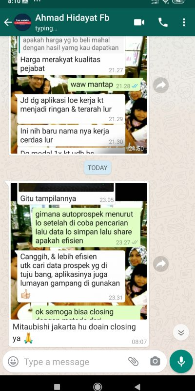 testi autoprospek sales mobil